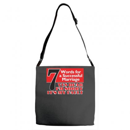 Funny  7 Words For Marriage, Ideal Gift, Birthday Present Adjustable Strap Totes Designed By H4syim
