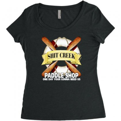 Funny  Creek Paddle Shop, Ideal Gift, Birthday Present Women's Triblend Scoop T-shirt Designed By H4syim