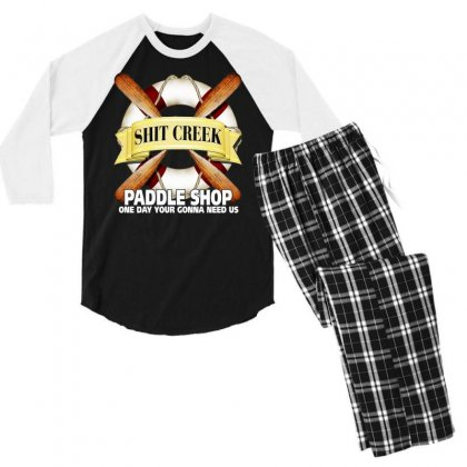 Funny  Creek Paddle Shop, Ideal Gift, Birthday Present Men's 3/4 Sleeve Pajama Set Designed By H4syim