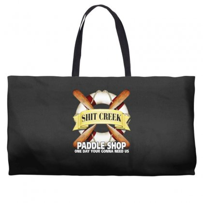 Funny  Creek Paddle Shop, Ideal Gift, Birthday Present Weekender Totes Designed By H4syim
