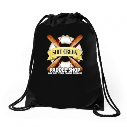 Funny  Creek Paddle Shop, Ideal Gift, Birthday Present Drawstring Bags Designed By H4syim