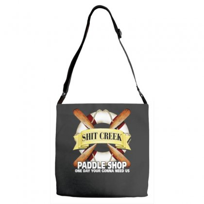 Funny  Creek Paddle Shop, Ideal Gift, Birthday Present Adjustable Strap Totes Designed By H4syim