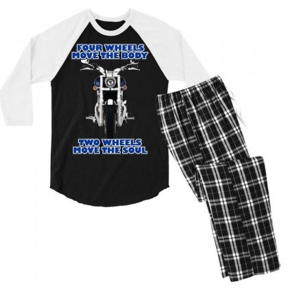 Funny , Fourtwo Wheels, Ideal Gift, Birthday Present Men's 3/4 Sleeve Pajama Set Designed By H4syim