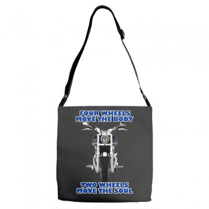 Funny , Fourtwo Wheels, Ideal Gift, Birthday Present Adjustable Strap Totes Designed By H4syim