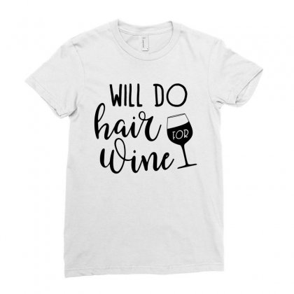 Funny Wine Drinking Design Ladies Fitted T-shirt Designed By Cogentprint