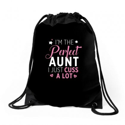 Funny Auntie Design Drawstring Bags Designed By Cogentprint