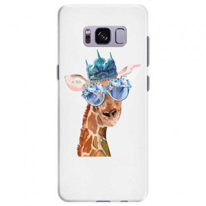 Watercolor Giraffe Samsung Galaxy S8 Plus Case Designed By Nurbetulk