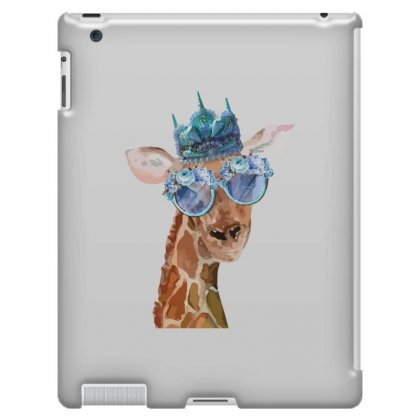 Watercolor Giraffe Ipad 3 And 4 Case Designed By Nurbetulk