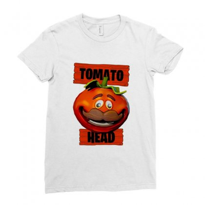 Tomato Head Ladies Fitted T-shirt Designed By Nurbetulk