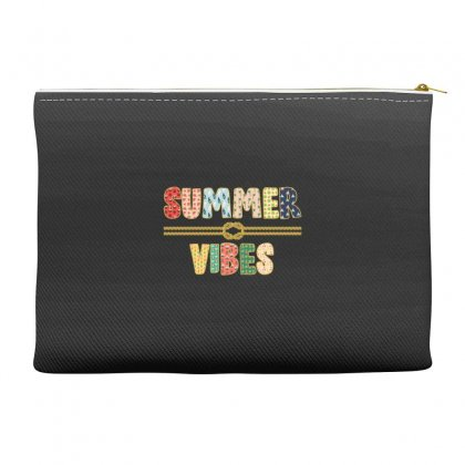 Summer Vibes Accessory Pouches Designed By Nurbetulk