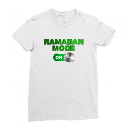 Ramadan Mode On Ladies Fitted T-shirt Designed By Nurbetulk