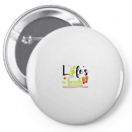 Life's A Beach For Light Pin-back Button Designed By Nurbetulk