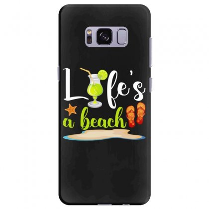 Life's A Beach For Dark Samsung Galaxy S8 Plus Case Designed By Nurbetulk
