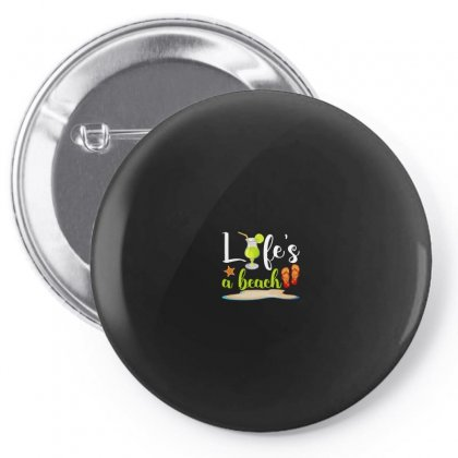 Life's A Beach For Dark Pin-back Button Designed By Nurbetulk