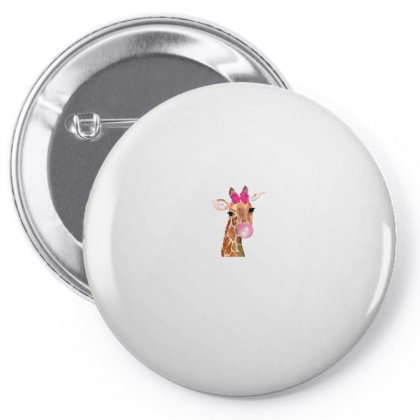 Giraffe Bubblegum Pin-back Button Designed By Nurbetulk