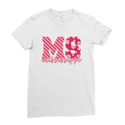 Mississippi Pink Alphabet Ladies Fitted T-shirt Designed By Sengul
