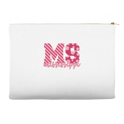 Mississippi Pink Alphabet Accessory Pouches Designed By Sengul