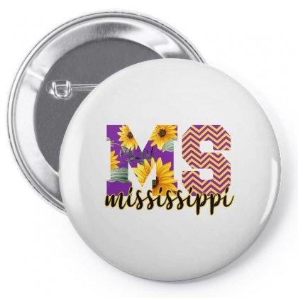 Mississippi Alphabet Pin-back Button Designed By Sengul