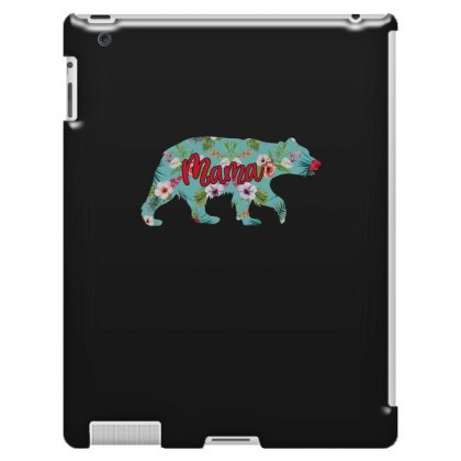 Mama Bear Blue Floral Ipad 3 And 4 Case Designed By Sengul