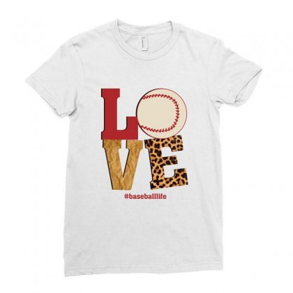 Love Baseballlife Ladies Fitted T-shirt Designed By Sengul