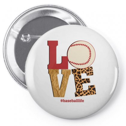 Love Baseballlife Pin-back Button Designed By Sengul
