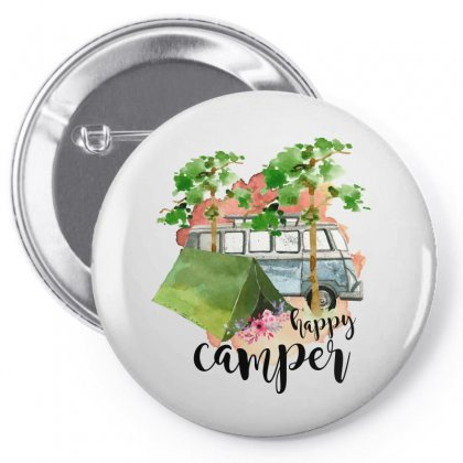 Happy Camper Pin-back Button Designed By Sengul