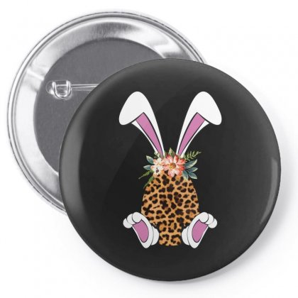 Easter Bunny Leopard Pin-back Button Designed By Sengul