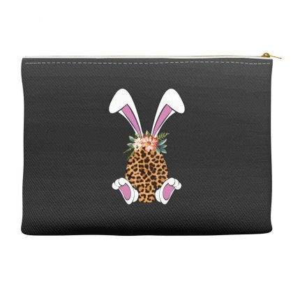 Easter Bunny Leopard Accessory Pouches Designed By Sengul