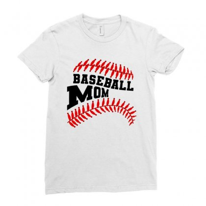 Baseball Mom For Light Ladies Fitted T-shirt Designed By Nurbetulk