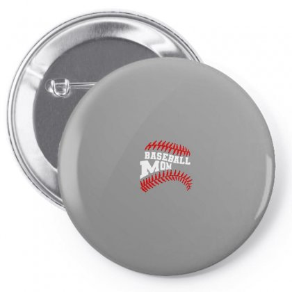 Baseball Mom For Dark Pin-back Button Designed By Nurbetulk