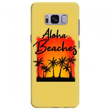 Aloha Beaches Samsung Galaxy S8 Plus Case Designed By Nurbetulk
