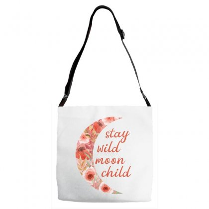 Stay Wild Moon Child Adjustable Strap Totes Designed By Sengul