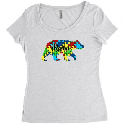 Autism Mama Bear Women's Triblend Scoop T-shirt Designed By Sengul