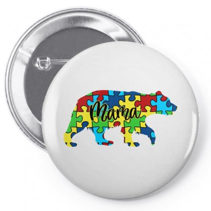 Autism Mama Bear Pin-back Button Designed By Sengul