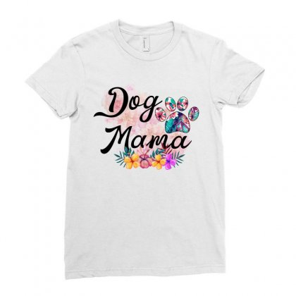 Dog Mama Ladies Fitted T-shirt Designed By Sengul
