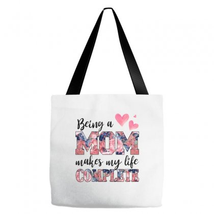 Being A Mom Makes My Life Complete For Light Tote Bags Designed By Sengul