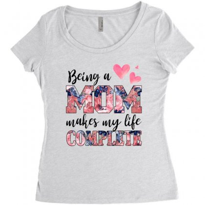 Being A Mom Makes My Life Complete For Light Women's Triblend Scoop T-shirt Designed By Sengul