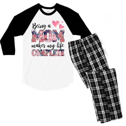 Being A Mom Makes My Life Complete For Light Men's 3/4 Sleeve Pajama Set Designed By Sengul