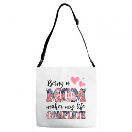 Being A Mom Makes My Life Complete For Light Adjustable Strap Totes Designed By Sengul