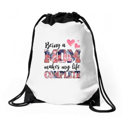 Being A Mom Makes My Life Complete For Light Drawstring Bags Designed By Sengul