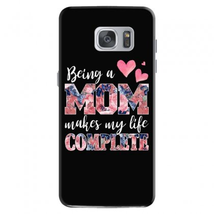 Being A Mom Makes My Life Complete For Dark Samsung Galaxy S7 Case Designed By Sengul