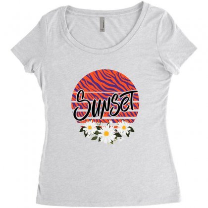 Sunset Women's Triblend Scoop T-shirt Designed By Sengul