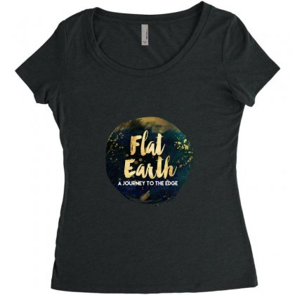 Flat Earth A Journey To The Edge Women's Triblend Scoop T-shirt Designed By Perception