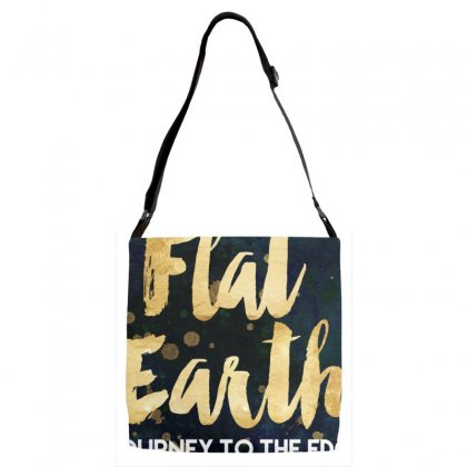 Flat Earth A Journey To The Edge Adjustable Strap Totes Designed By Perception