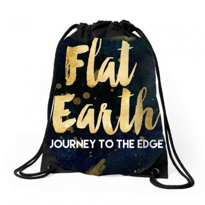 Flat Earth A Journey To The Edge Drawstring Bags Designed By Perception