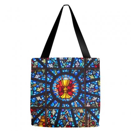 Stained Glass Rose Window Eucharist All Saints Tote Bags Designed By Salmanaz