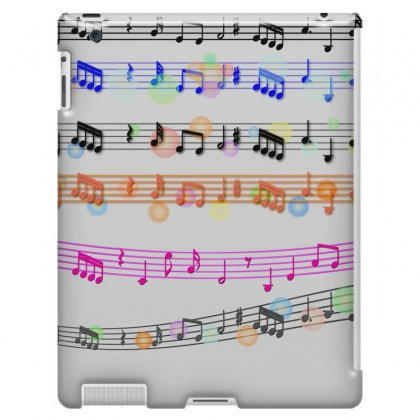 Music Background Music Note Ipad 3 And 4 Case Designed By Salmanaz