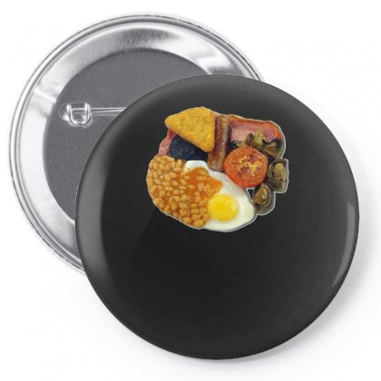 Funny Full English Breakfast, Ideal Gift Or Birthday Present Pin-back Button Designed By H4syim