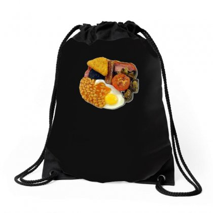 Funny Full English Breakfast, Ideal Gift Or Birthday Present Drawstring Bags Designed By H4syim