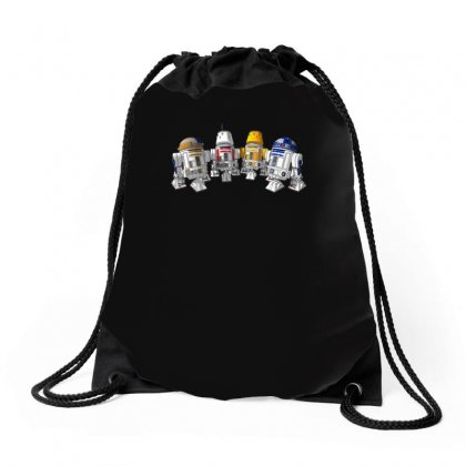 Funny Star Wars Droids Ideal Birthday Present Or Gift Drawstring Bags Designed By H4syim